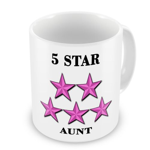 5 Star... Novelty Gift Mug - Pink